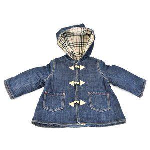 "BURBERRY Baby: Blue, Denim & ""Nova Check"" Jacket"